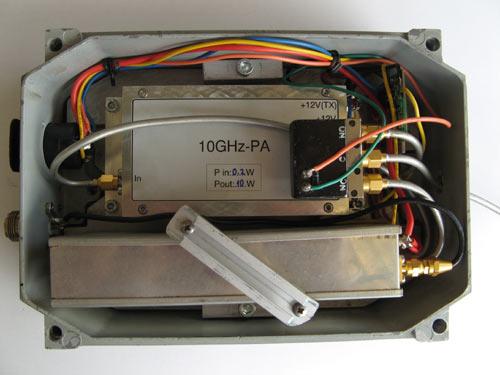 10GHz transverter + PA 10W